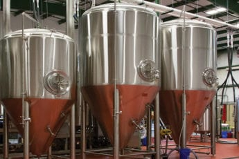 Beer vats in a brewery