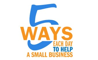 Five ways to help a small business.