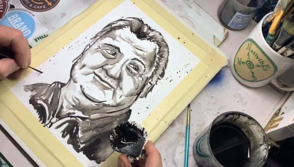 Bob Huggins painting coal painting Ben Kolb Mannington, WV artist WV artist  WV made Mannington artist Ben Kolb
