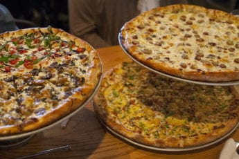Platters of Pizza from Pies and Pints