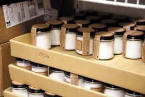 Mason jars full of packaged salt