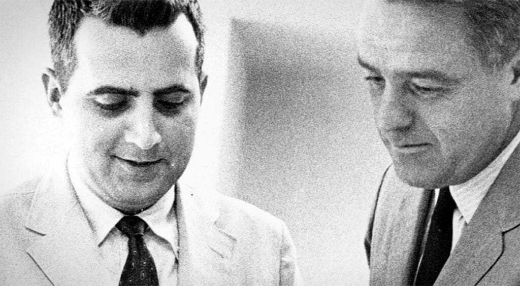 Charlie Peters and Sargent Shriver