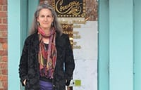Nancy Ward standing in front of Cornucopia