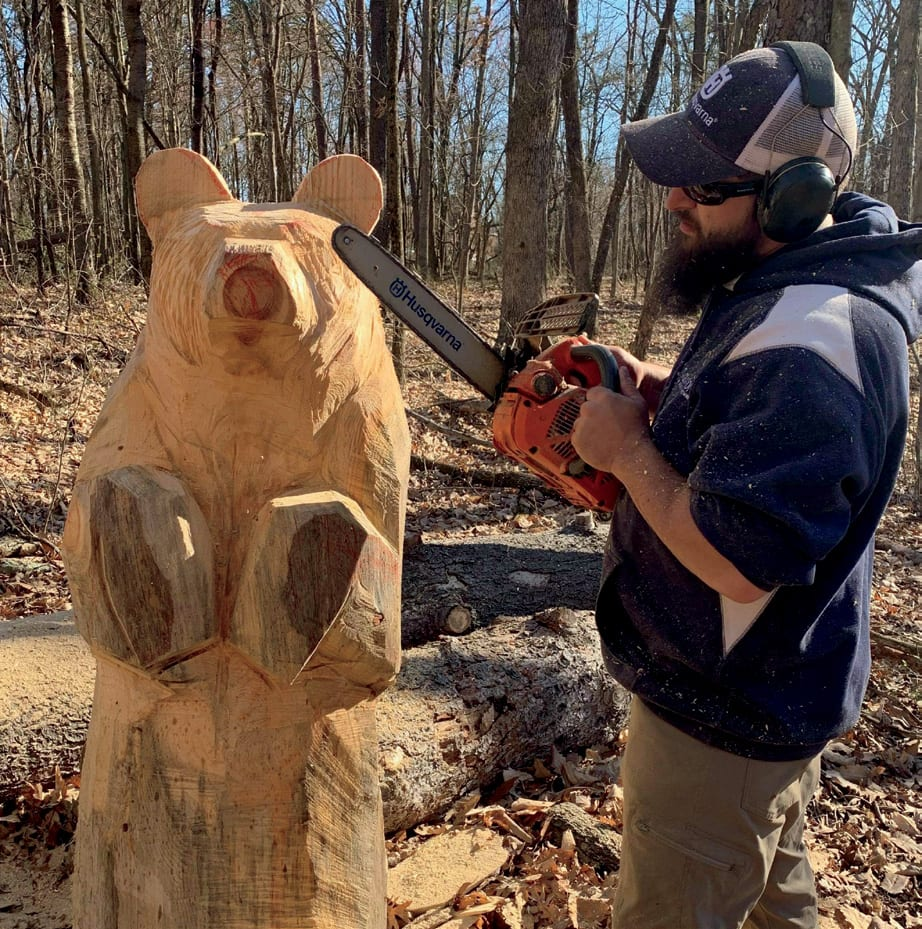 Kenneth Lake Carving